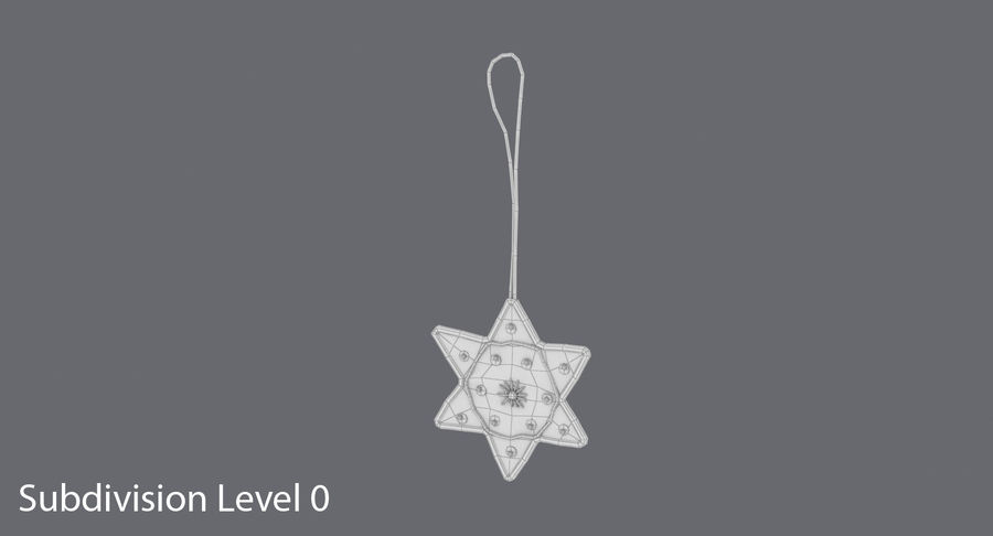Star of David Ornament 02 royalty-free 3d model - Preview no. 11