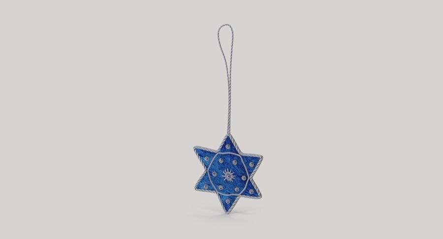 Star of David Ornament 02 royalty-free 3d model - Preview no. 3