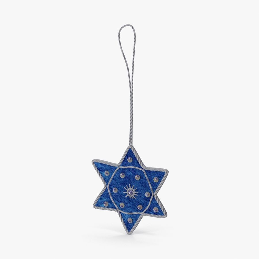 Star of David Ornament 02 royalty-free 3d model - Preview no. 1