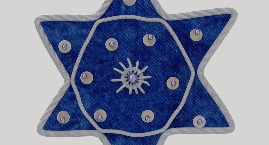 Star of David Ornament 02 royalty-free 3d model - Preview no. 7