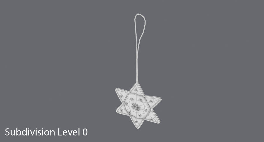 Star of David Ornament 02 royalty-free 3d model - Preview no. 15