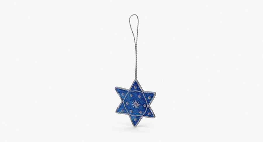 Star of David Ornament 02 royalty-free 3d model - Preview no. 2