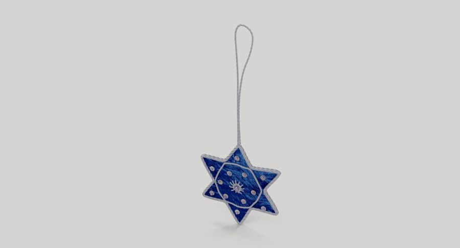 Star of David Ornament 02 royalty-free 3d model - Preview no. 4