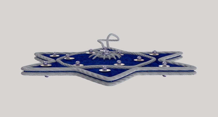 Star of David Ornament 02 royalty-free 3d model - Preview no. 10