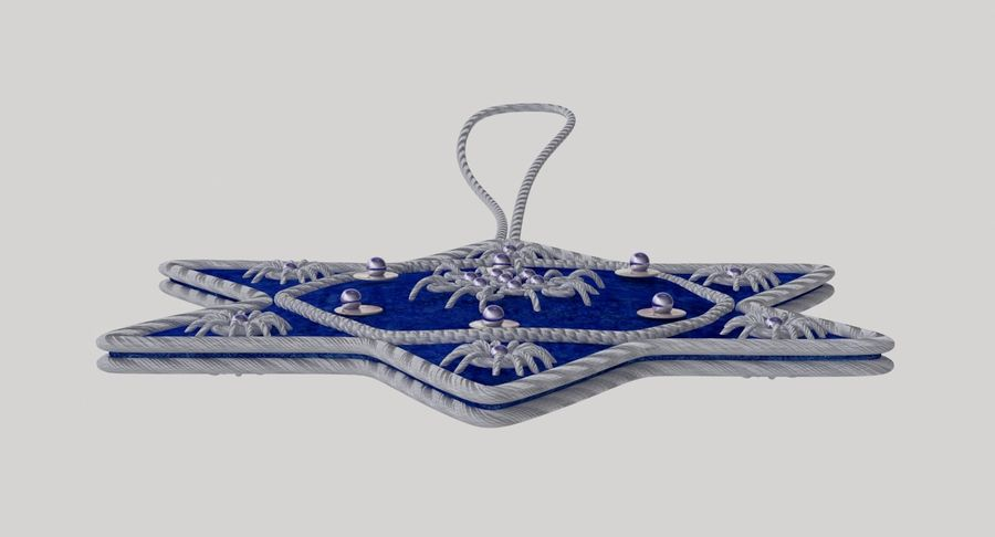 Star of David Ornament 03 royalty-free 3d model - Preview no. 11