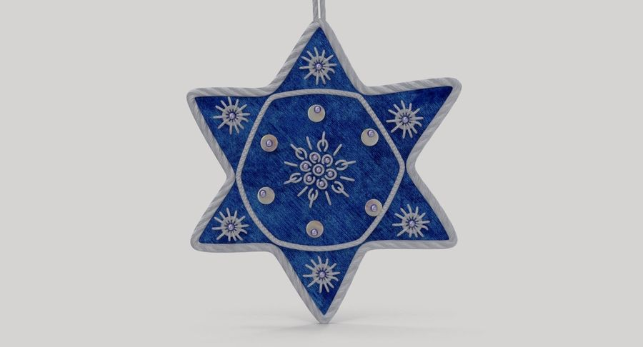 Star of David Ornament 03 royalty-free 3d model - Preview no. 7