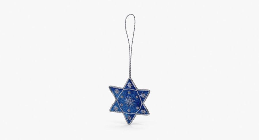 Star of David Ornament 03 royalty-free 3d model - Preview no. 2
