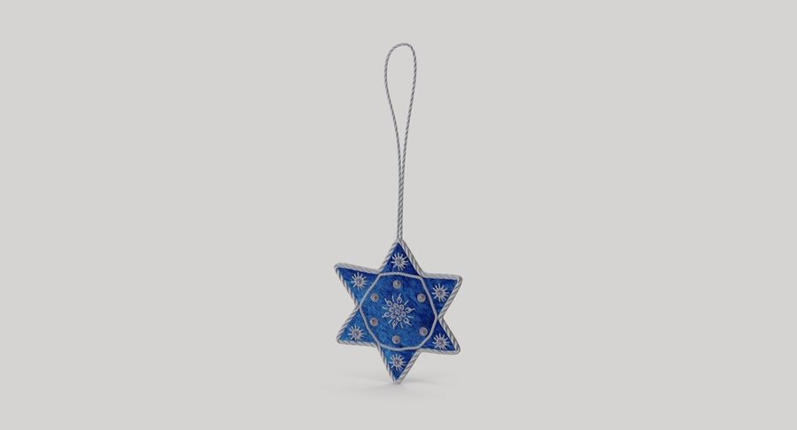 Star of David Ornament 03 royalty-free 3d model - Preview no. 4