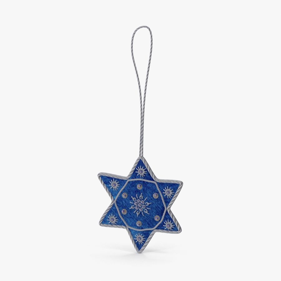 Star of David Ornament 03 royalty-free 3d model - Preview no. 1