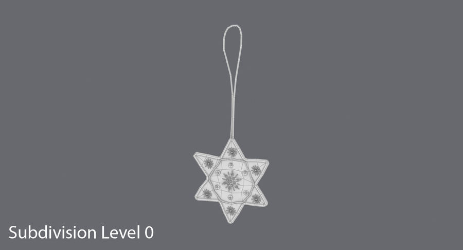 Star of David Ornament 03 royalty-free 3d model - Preview no. 12