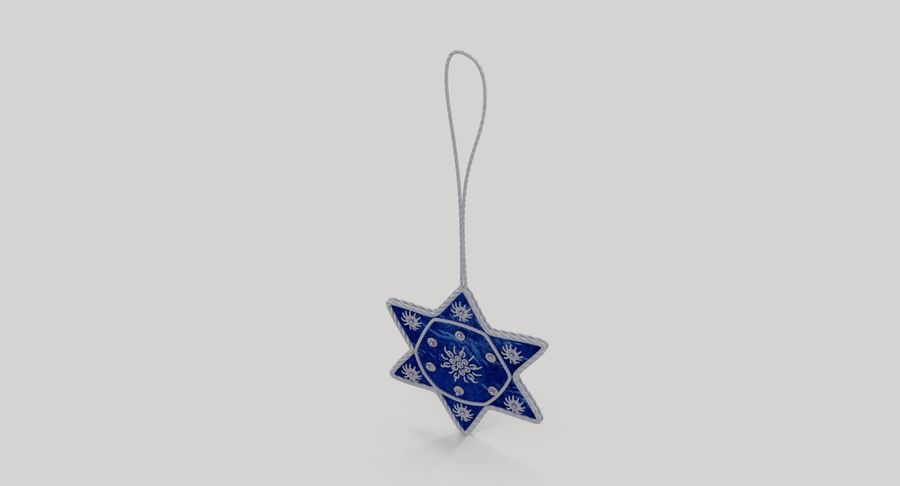 Star of David Ornament 03 royalty-free 3d model - Preview no. 5