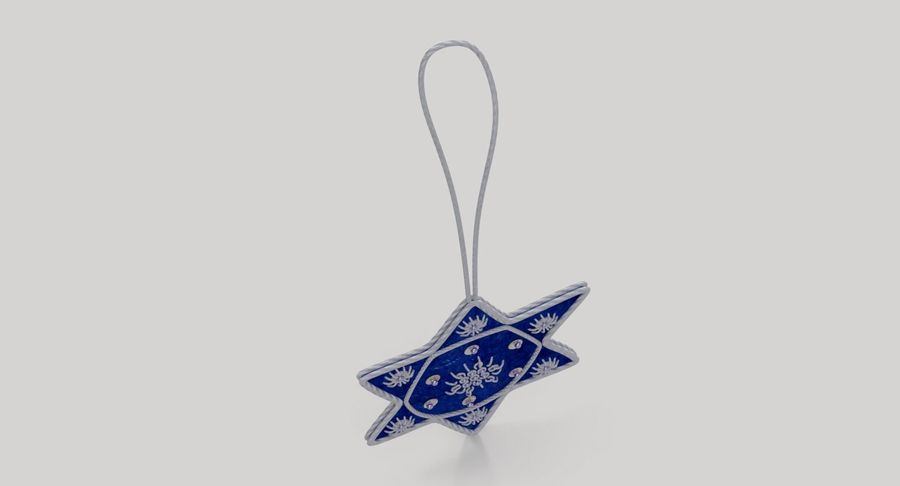 Star of David Ornament 03 royalty-free 3d model - Preview no. 6