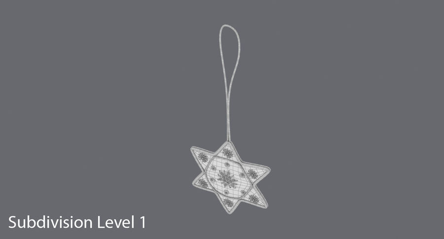 Star of David Ornament 03 royalty-free 3d model - Preview no. 17