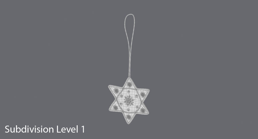 Star of David Ornament 03 royalty-free 3d model - Preview no. 13