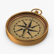 Antiker Kompass 3d model