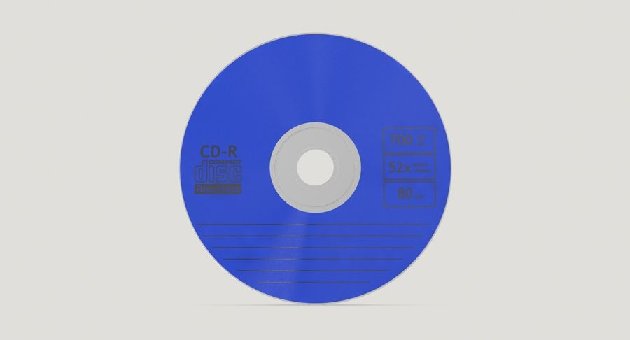 CD Blue royalty-free 3d model - Preview no. 7