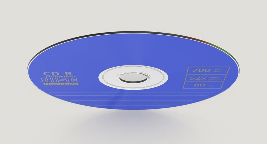 CD Blue royalty-free 3d model - Preview no. 5