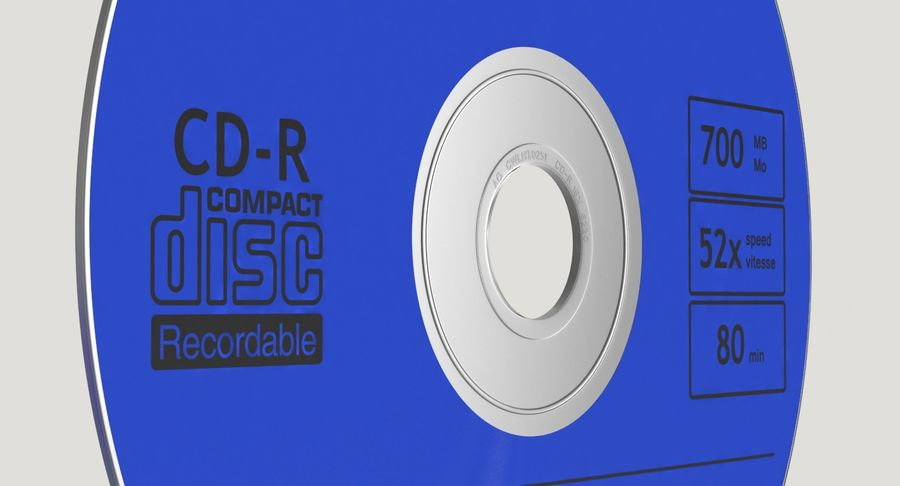CD Blue royalty-free 3d model - Preview no. 8