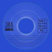 CD azul modelo 3d