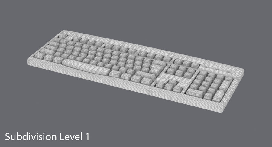 Computer Keyboard 02 royalty-free 3d model - Preview no. 16