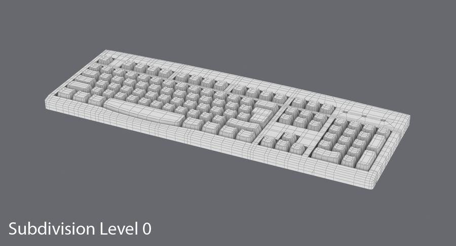 Computer Keyboard 02 royalty-free 3d model - Preview no. 13