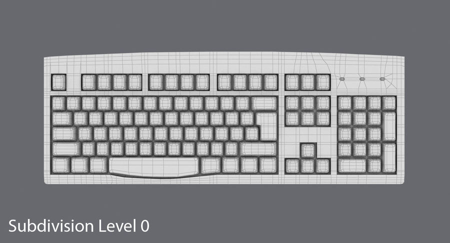 Computer Keyboard 02 royalty-free 3d model - Preview no. 14