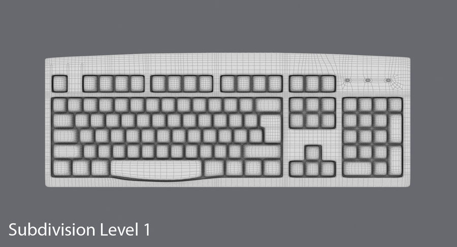 Computer Keyboard 02 royalty-free 3d model - Preview no. 17