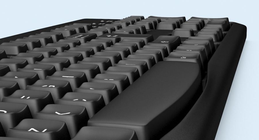 Computer Keyboard 02 royalty-free 3d model - Preview no. 11
