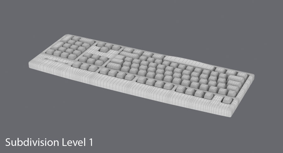 Computer Keyboard 02 royalty-free 3d model - Preview no. 1