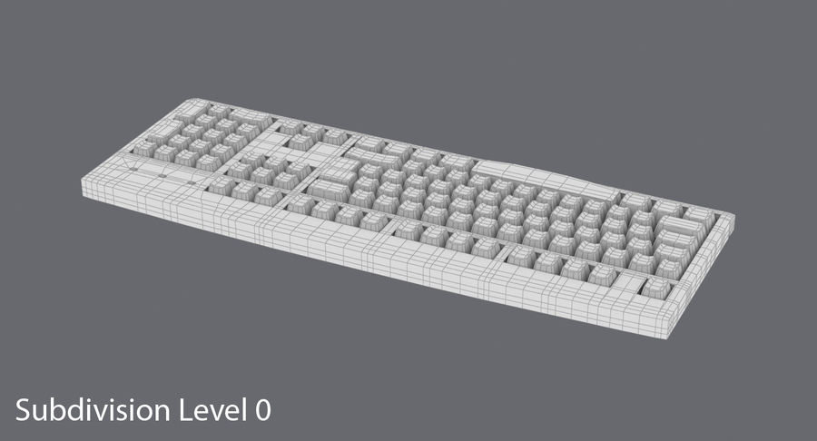 Computer Keyboard 02 royalty-free 3d model - Preview no. 15