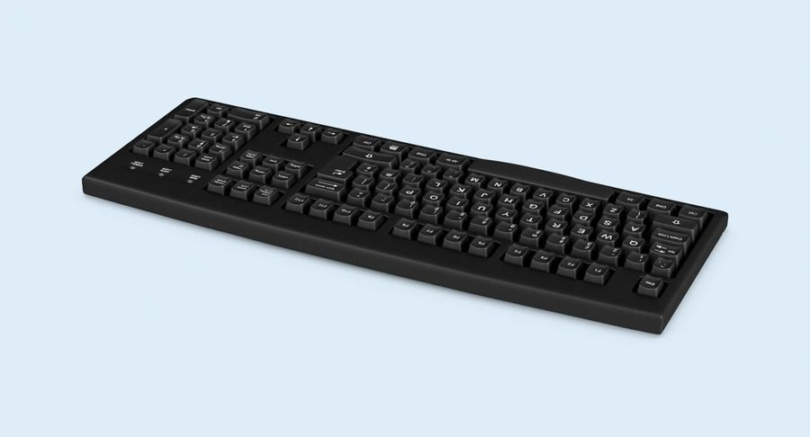 Computer Keyboard 02 royalty-free 3d model - Preview no. 6