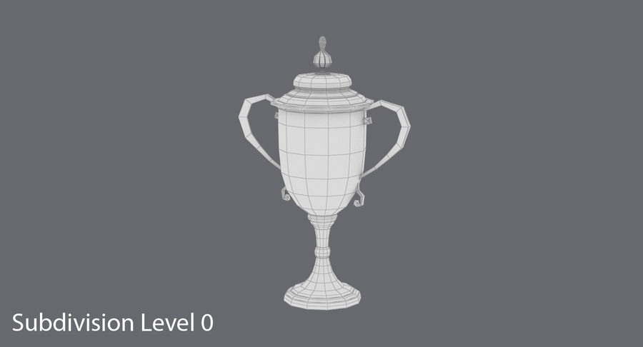 Trophy Cup 02 royalty-free 3d model - Preview no. 12