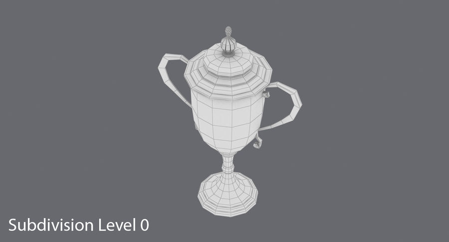 Trophy Cup 02 royalty-free 3d model - Preview no. 17