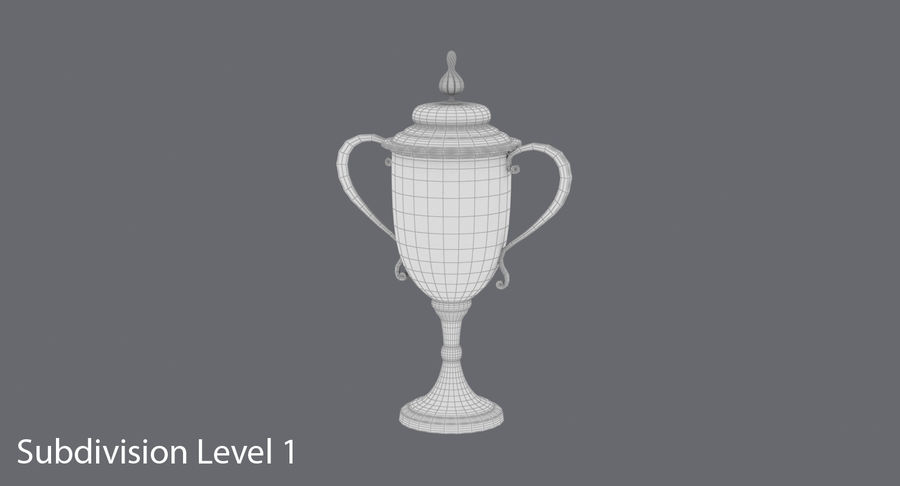 Trophy Cup 02 royalty-free 3d model - Preview no. 13
