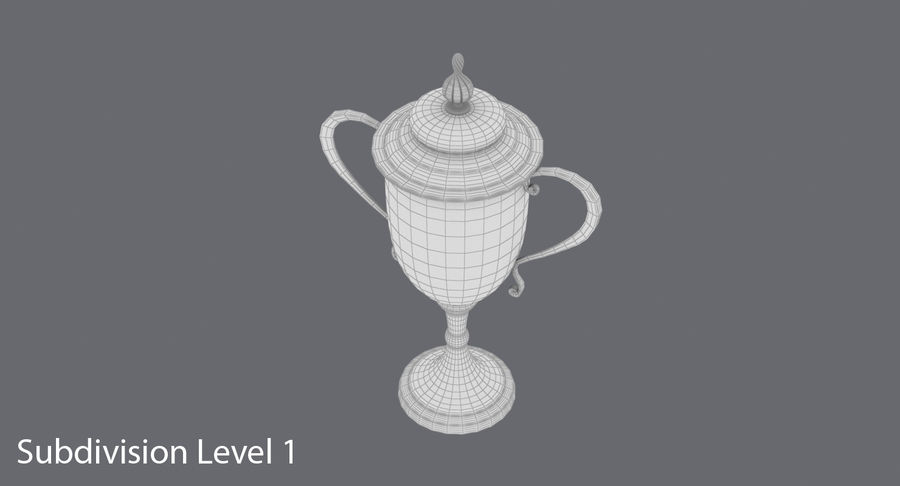 Trophy Cup 02 royalty-free 3d model - Preview no. 16