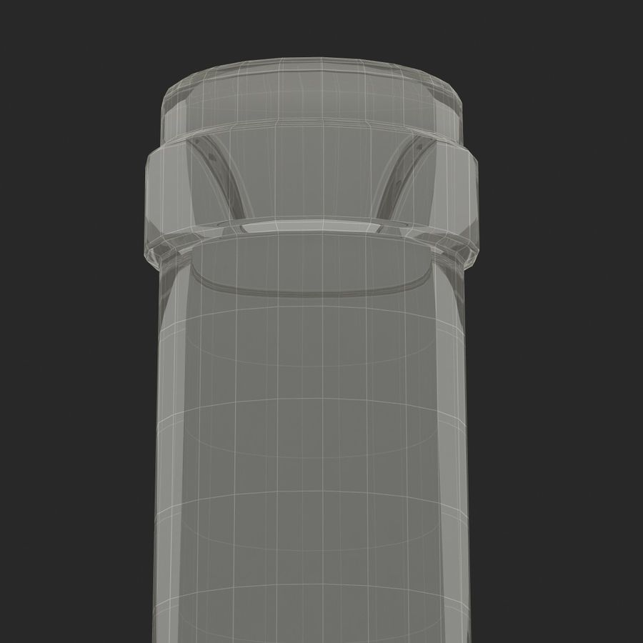 Weinflasche royalty-free 3d model - Preview no. 15