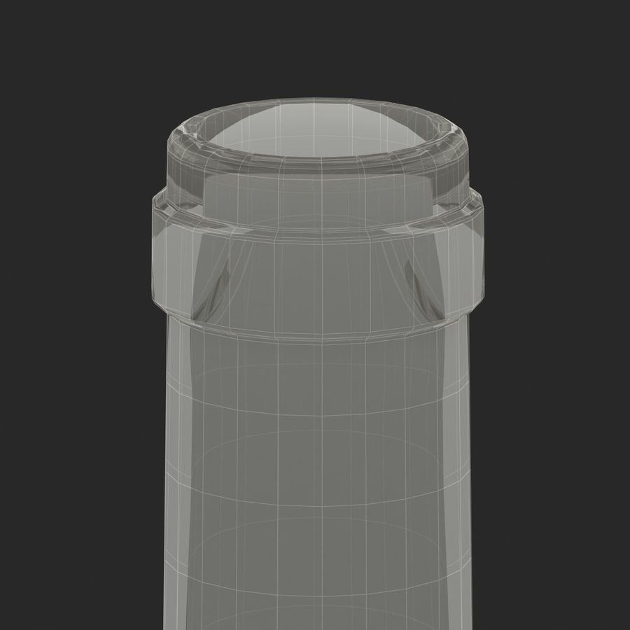 Weinflasche royalty-free 3d model - Preview no. 16