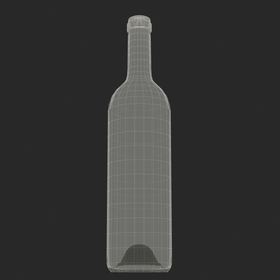 Weinflasche royalty-free 3d model - Preview no. 14
