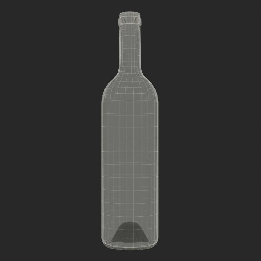 Weinflasche royalty-free 3d model - Preview no. 13