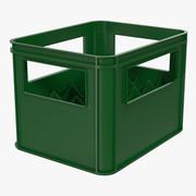 Cajas De Botellas De Plástico Verde modelo 3d