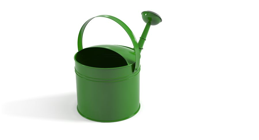 Green Watering Can royalty-free 3d model - Preview no. 5