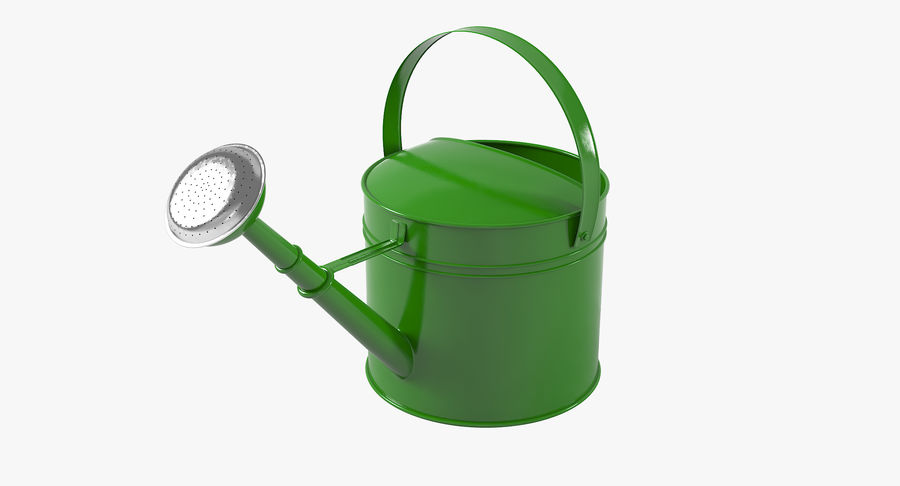Green Watering Can royalty-free 3d model - Preview no. 2
