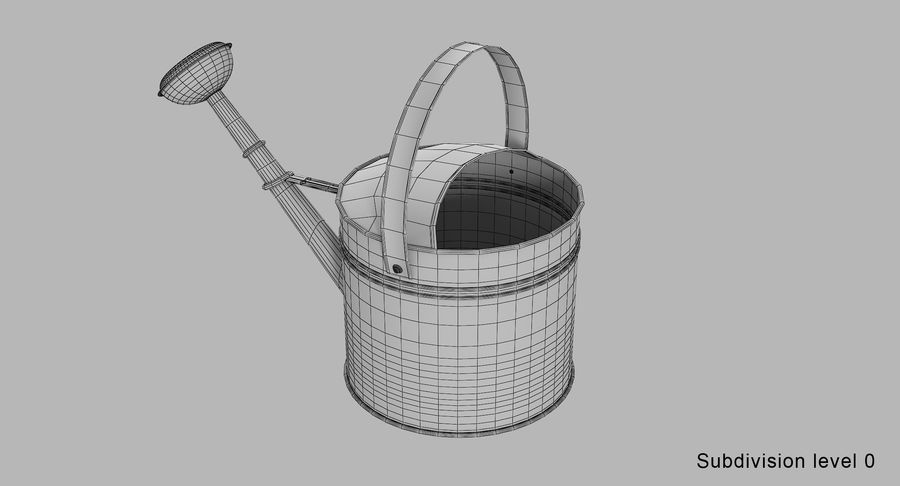 Green Watering Can royalty-free 3d model - Preview no. 13