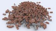 Brick spillror hög 3d model