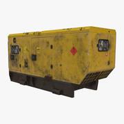 Old Dirty Diesel Generator 3d model