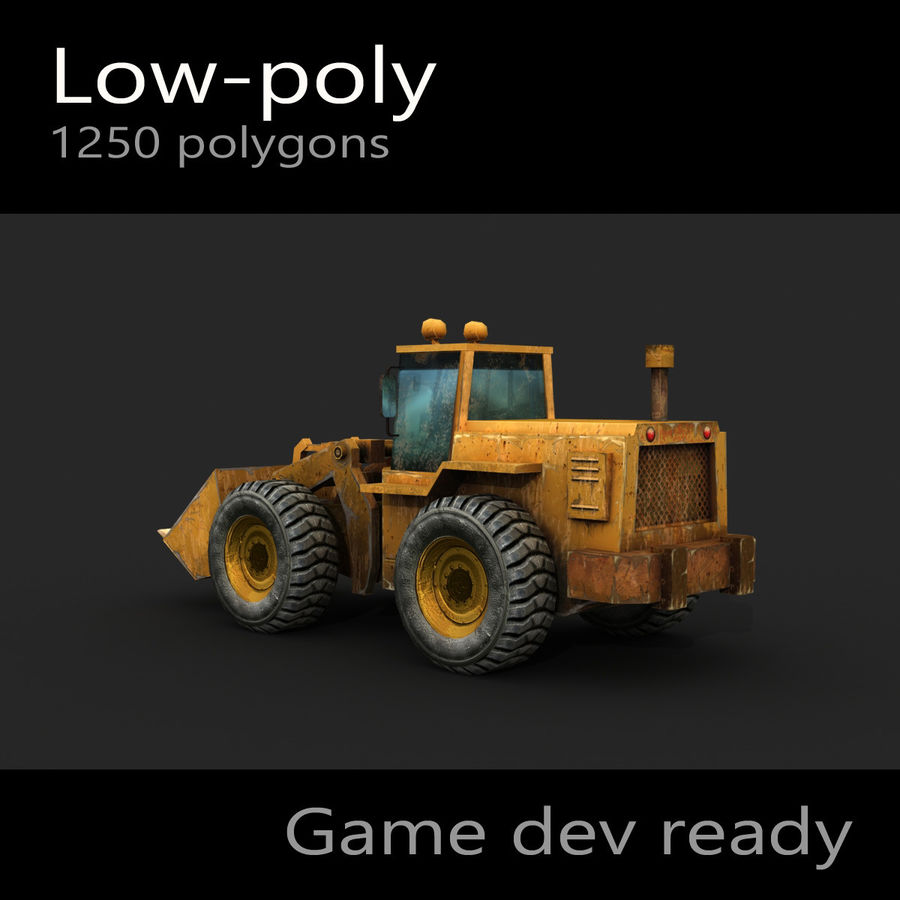 Wheel Loader royalty-free 3d model - Preview no. 5