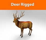 ciervo aparejado modelo listo para juegos de baja poli modelo 3d