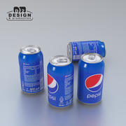Beverage can Pepsi 330ml 2016 330ml 3d model