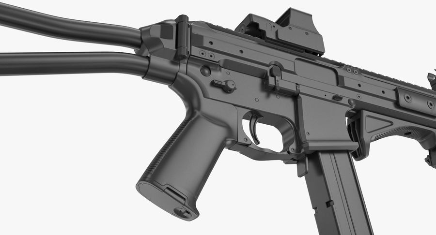 LWRC SMG-45 Inga material royalty-free 3d model - Preview no. 9