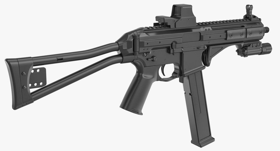 LWRC SMG-45 Inga material royalty-free 3d model - Preview no. 5